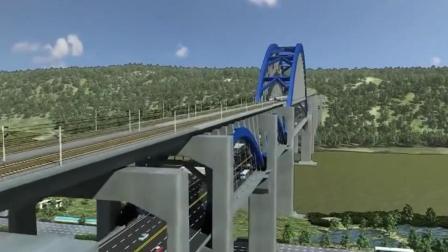 中国独一无二的两用大桥: 也是世界首创, 上面跑高铁, 下面跑汽车