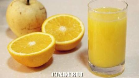 鲜榨果汁梨橙汁的制作方法