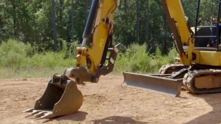 老外安装了快换, 挖掘机正铲反铲更换方便, 你有用正铲操作吗?