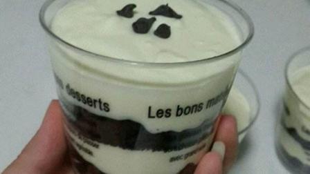 一分钟学会酸奶慕斯, 味道堪比星巴克奥利奥慕斯, 只要三步!