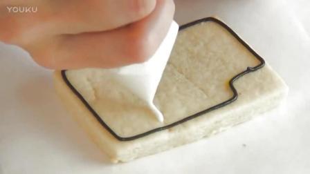 蛋糕裱花教学视频把饼干画成可爱的相机, 你舍得吃吗-_超清sn0打发淡奶油