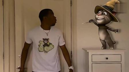 国外小伙与自家的动漫汤姆猫搞笑片段