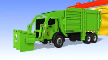 儿童玩具车视频 挖掘机表演视频 工程玩具车 垃圾车