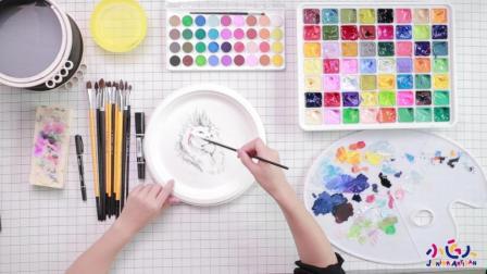 幼儿园中班水粉画教案视频: 水粉画绘画狮子王