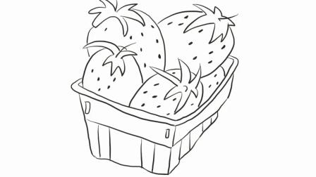 一框草莓水果亲子绘画儿童简笔画视频  宝宝轻松学画画