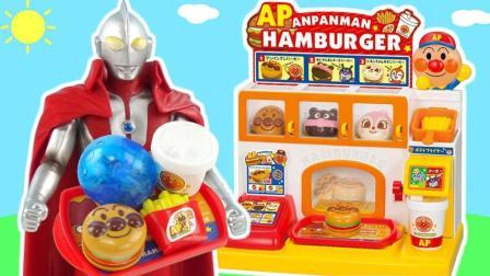 玩具益趣园 2017 奥特曼快餐汉堡店奇趣蛋
