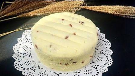 【蔓越莓蒸蛋糕】口味比普通戚风更细腻, 更好吃。