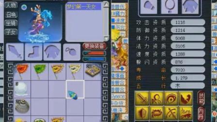 梦幻西游: 第一天女调属性之际, 老王秀一波自己开百万豪车弹射起步