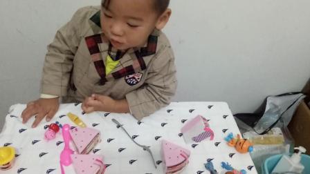 小猪佩奇过生日切蛋糕 水果切切乐亲子游戏 小伶玩具