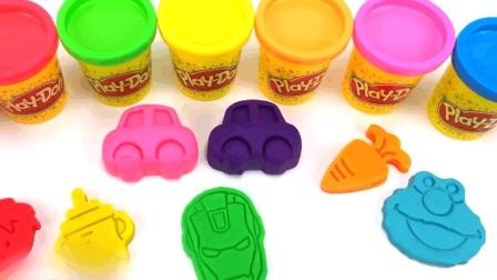 彩泥幼儿早教动画: 彩泥培乐多小车粘土 亲子手工 想象力玩具