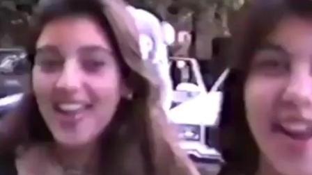 看看大姨子年轻和小时候的珍贵视频, 金卡戴珊从小就是个美人