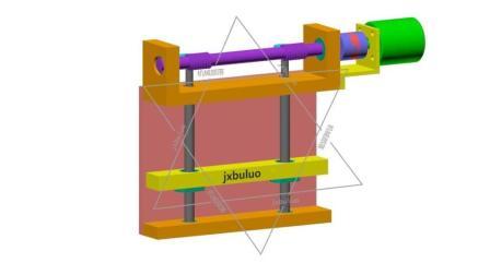 两根进给丝杠直线运动非标自动化机械设计机构动画视频