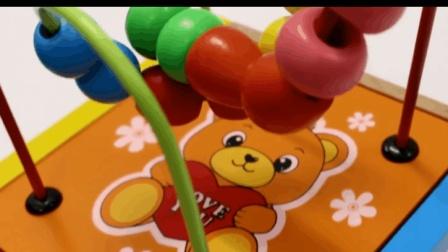 小熊维尼早教益智算术木质玩具套装 认知数字颜色视频