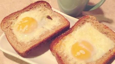 三分钟的营养早餐, 会爆浆的芝士鸡蛋吐司片