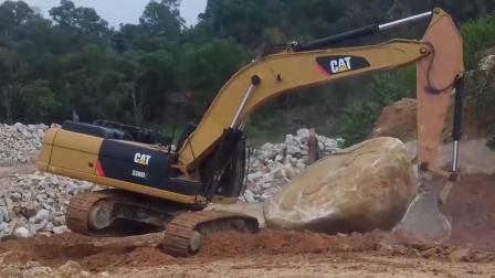 卡特336D挖掘机, 挑战这块大石头!