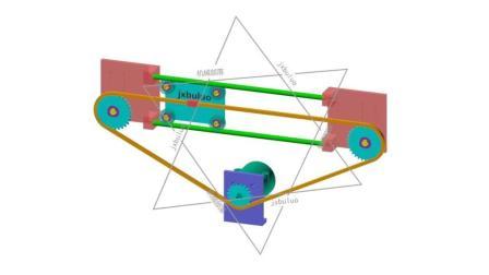 导杆、滚子和链条直线运动非标自动化机械设计机构动画视频
