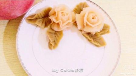韩式豆沙裱花, 蛋糕上的叶子教程, 基本手法