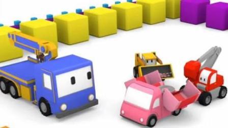 儿童挖掘机卡通 迷你挖掘机起重机推土机建造冰淇淋车和棉花糖车 并坐摩天轮和玩具飞机