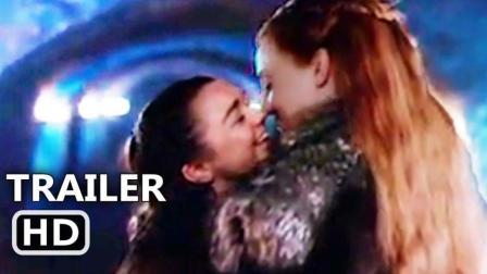 权力的游戏花絮——Arya和珊莎吻(幕后)