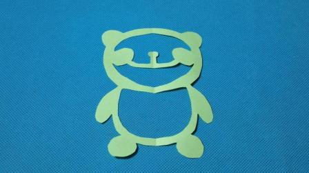 剪纸小课堂596: 剪纸大熊猫 儿童剪纸教程大全 折纸王子 亲子游戏