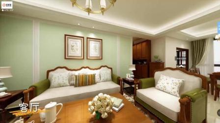 91㎡经典美式三居室, 卧室的步入式衣帽间太赞了!