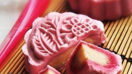 玫瑰红酒冰皮月饼