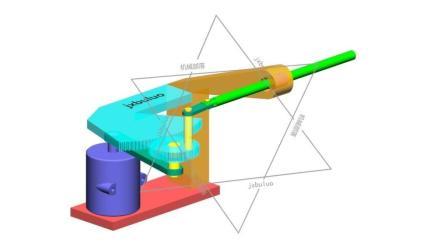 由摆线摆动转换的两端减速直线运动非标自动化机械设计机构动画视频