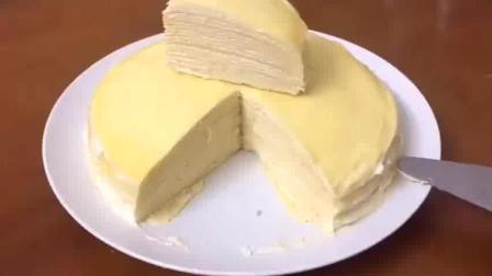 教大家做一款榴莲千层蛋糕详细做法 女生必备美食
