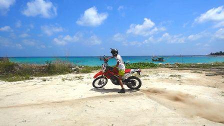 泰国海滩来一次摩托漂移耍酷 907