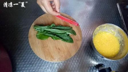 宝宝食谱火腿蔬菜鸡蛋饼的制作方法