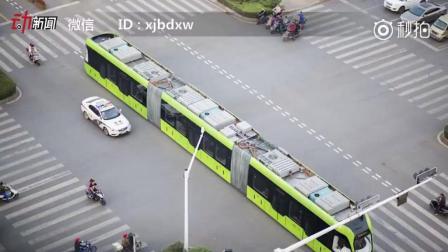 全球首列智轨列车上路了! 未来还可实现无人驾驶