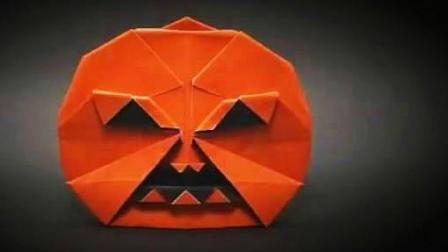 diy折纸 神奇的折纸 如何制作万圣节南瓜灯折纸教学视频