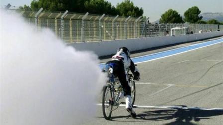 世界最快自行车, 装上火箭发动机, 瞬间秒杀法拉利!