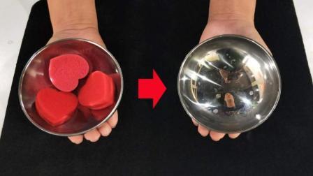 魔术教程: 3个小球隔空转移! 原来三仙归洞这么简单
