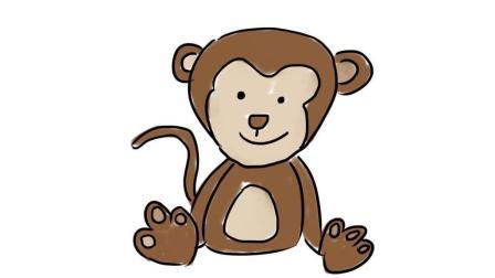 可爱的卡通小猴子卡通简笔画画法 宝宝轻松学画画