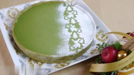 日本牛人手工制作抹茶蛋糕, 强迫症看了很舒服