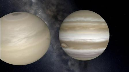 天文软件模拟土星和木星的相撞融合过程, 最后竟变成了一个太阳!