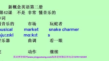 英语音标入门学习 26个英文字母的正确读音 自然拼读法 新概念英语第二册第42课单词01