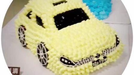 哪里有蛋糕培训班? 唯妙唯肖的小汽车刘清学员出品!