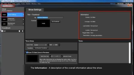 ProShow_Producer_8_展示选项(一): 展示设置_教程