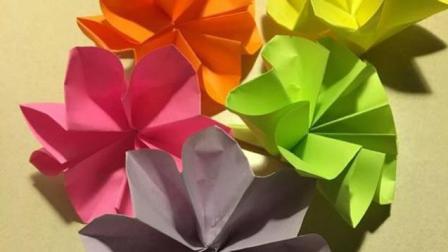 超简单折纸花 花折纸视频教程