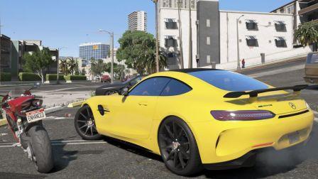 【老森GTA5 MOD豪车系列】奔驰AMG GTR  vs 杜卡迪1199 缅怀林肯公园主唱—查斯特·贝宁顿
