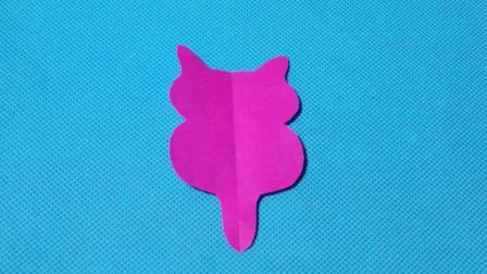 剪纸小课堂601: 剪纸猫咪 儿童剪纸教程大全 折纸王子 亲子游戏