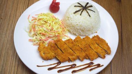 日式猪排饭, 样子比买的还要好看