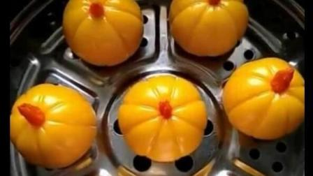 【黄金糯米南瓜包】非常健康, 老少皆宜的小吃, 15秒教你学会~ 