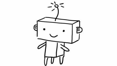 卡通机器人亲子简笔画教程 宝宝轻松学会简笔画