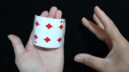 扑克牌自动变弯曲, 这样的纯手法魔术真厉害! 教学后真简单