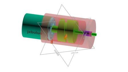 由槽型凸轮回转装换的直线运动非标自动化机械设计机构动画视频