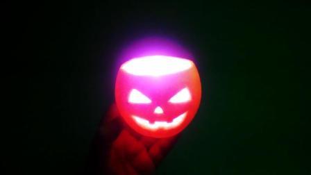 万圣节之夜手工小灯笼, 太漂亮了, 你以为是南瓜做的吗?