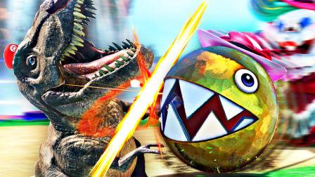 【屌德斯解说】 超级马里奥 奥德赛02 抵达侏罗纪瀑布国变身霸王龙完虐铁蛋蛋BOSS!